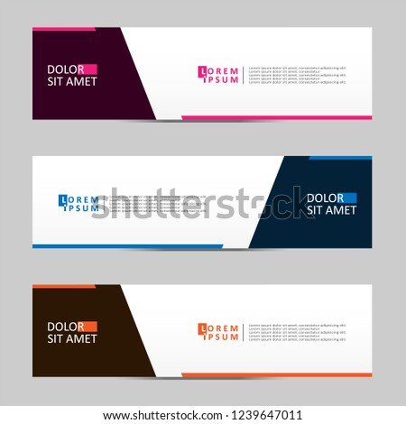 Vector abstract geometric design banner web template. vector illustration #1239647011