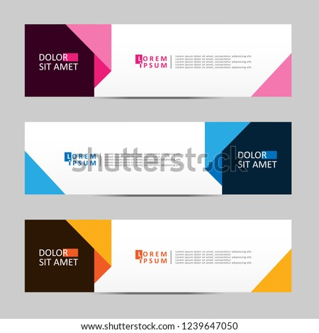 Vector abstract geometric design banner web template. vector illustration #1239647050