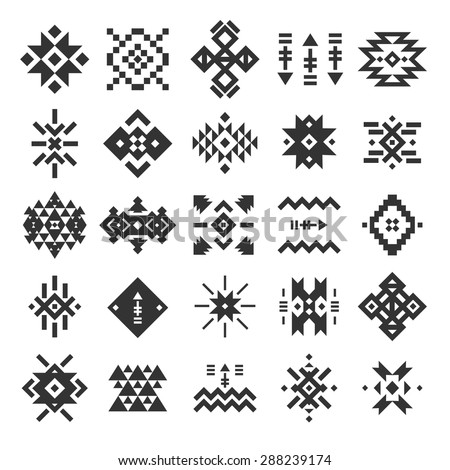 Vector Abstract Geometric Elements Pattern Ethnic