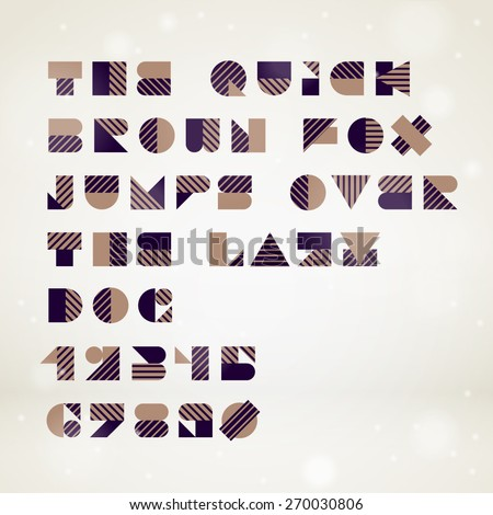 vector abstract geometric font