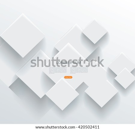 Vector Abstract geometric paper background