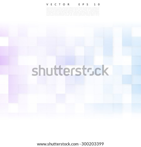 Vector Abstract geometric shapes from gray cubes. white squares