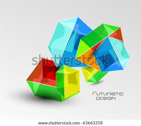 Vector abstract glass cube background