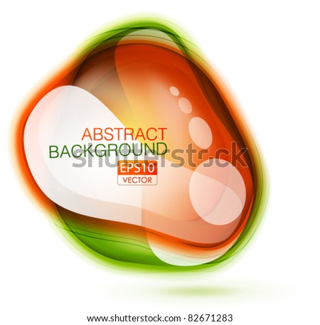 Vector abstract glossy color speech bubble background