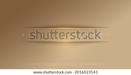 Vector abstract golden luxury backgrounds with light effected geometric graphic elements, cuts, stripes, lines, rounds for poster, flyer, digital board and concept design.