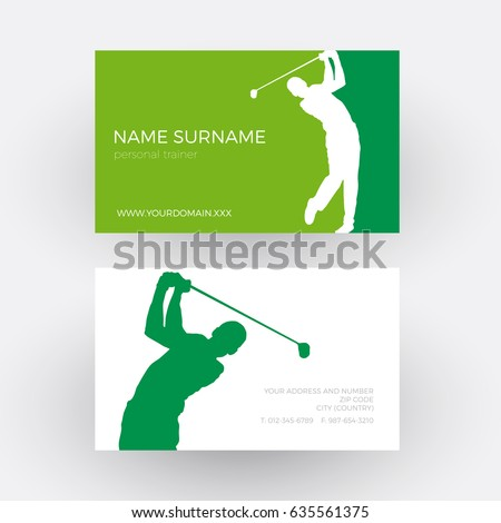 Vector abstract Golf club competition tournament background. Professional business card