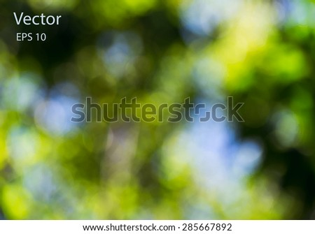 vector abstract green bokeh