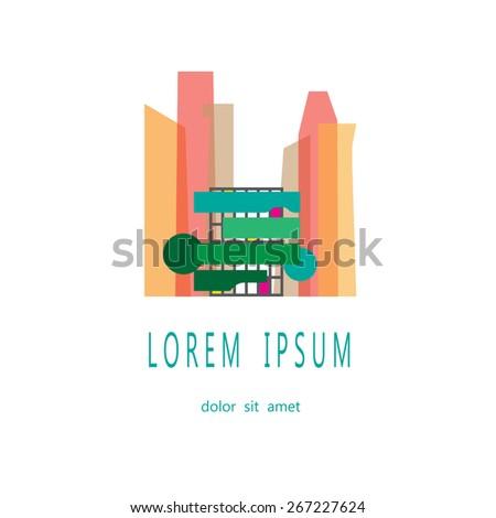 Vector Abstract Green Building