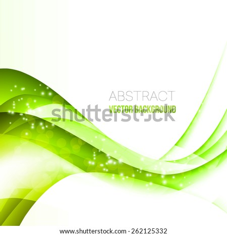 Vector Abstract Curved Lines Background Template Brochure Design
