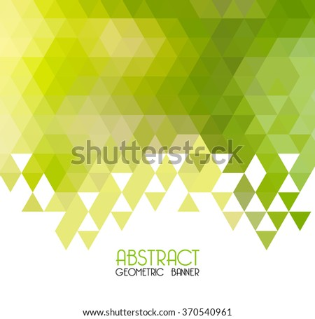 vector abstract green geometric
