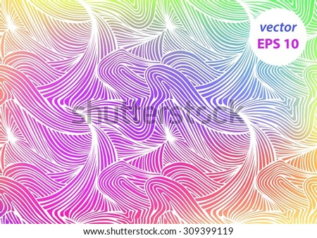 vector abstract hand drawn