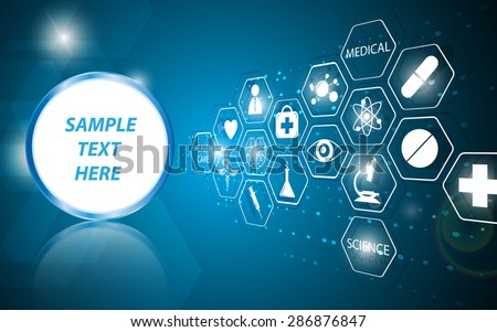 vector abstract health care science medical icon concept background