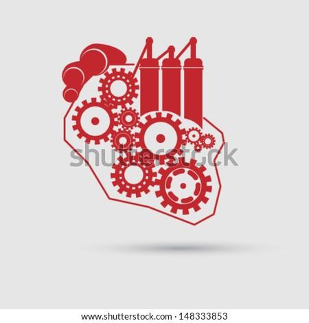 vector abstract heart concept
