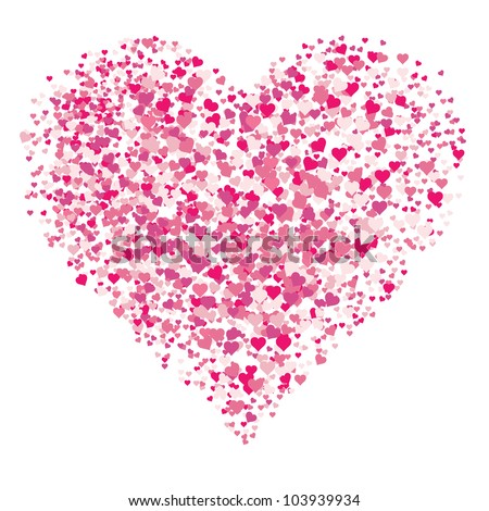 Vector Abstract Heart. Easy to edit colors. - stock vector