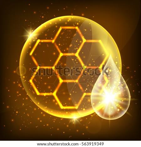 vector abstract hexagons