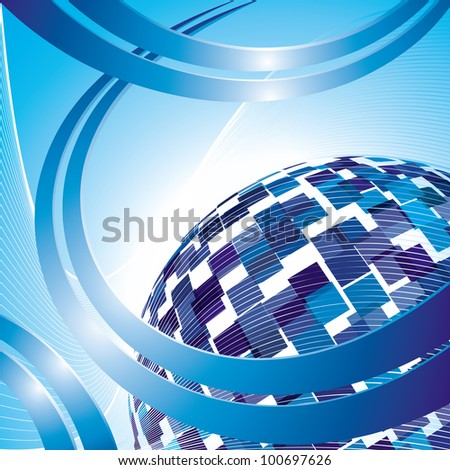 Vector abstract hi-tech background. 8 eps.