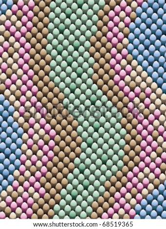 vector abstract illustration of snake skin