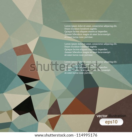 vector abstract illustration retro geometrical background