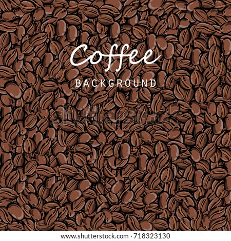 Vector abstract illustration with coffee beans