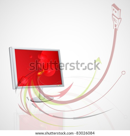 Vector abstract illustration with your monitor