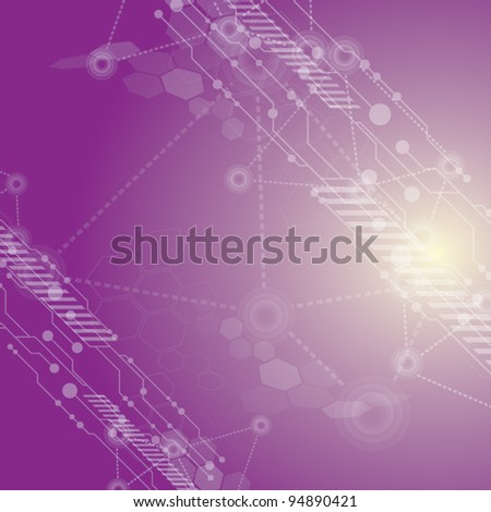 vector abstract innovation technology purple background