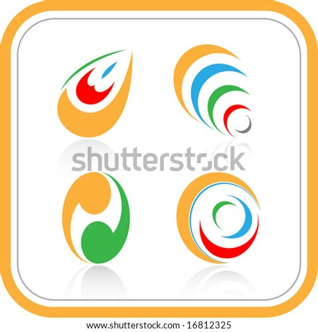 vector abstract internet icons