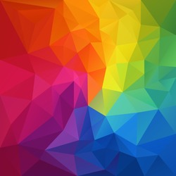 vector abstract irregular polygon background with a triangular pattern in full color rainbow spectrum colors