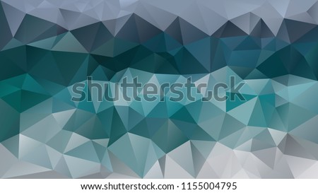vector abstract irregular polygonal background - triangle low poly pattern - blue green, teal, aqua, turquoise, pine, cobalt, mint, and gray color