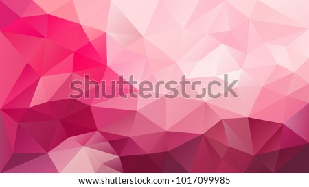 vector abstract irregular polygonal background - triangle low poly pattern - vibrant hot pink magenta color