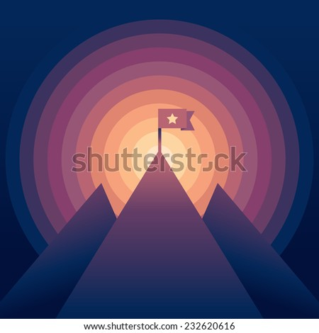 vector abstract landscape with