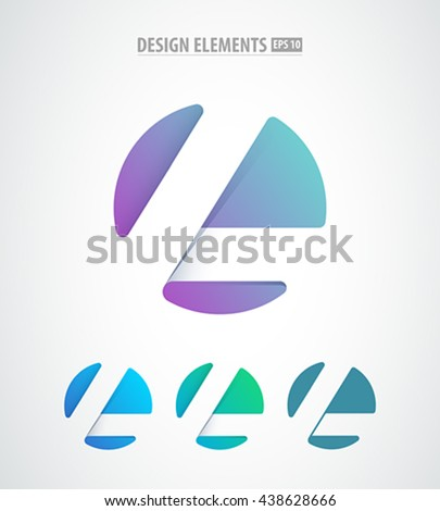 vector abstract letter l logo