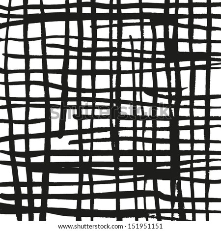 Vector abstract lines texture. Grunge background for your design. Messy black and white paint