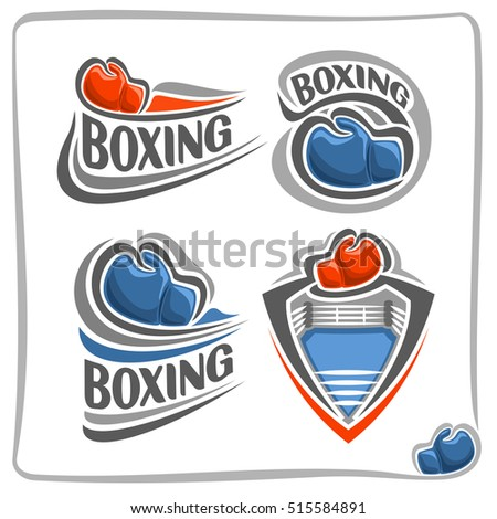 vector abstract logo boxing