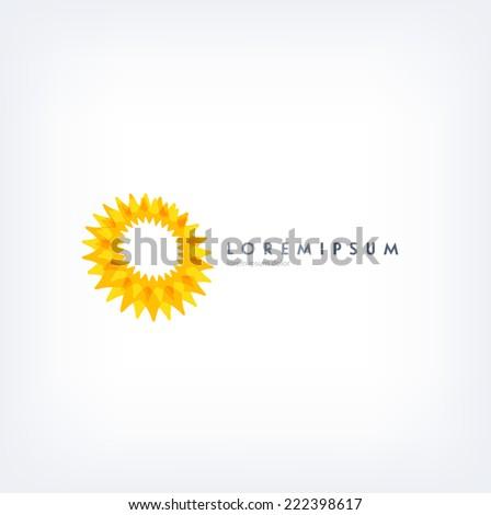 Vector abstract logo design template