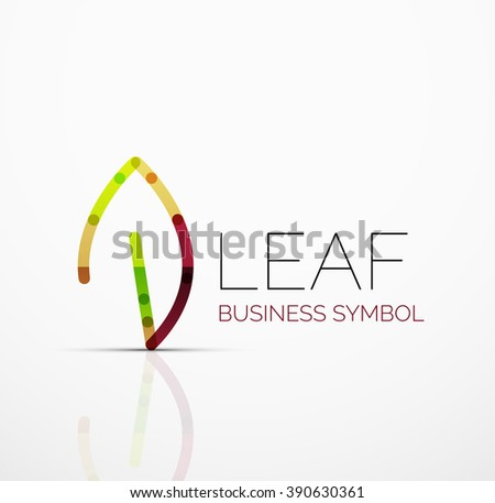 vector abstract logo idea  eco