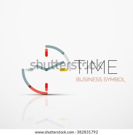 vector abstract logo idea  time