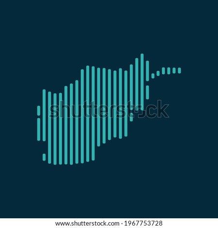 vector abstract map of