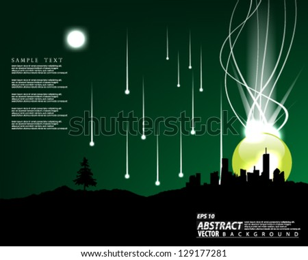 Vector Abstract meteor shower background design