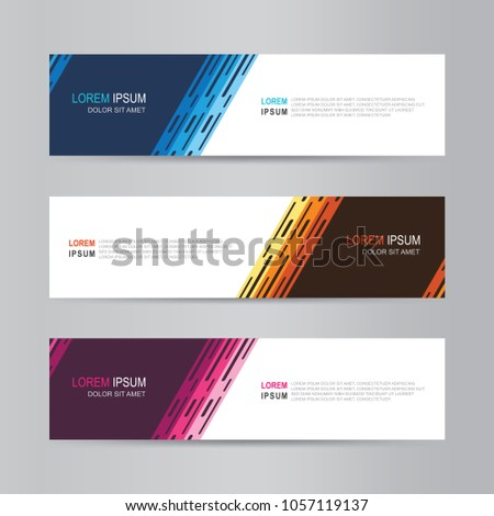 Vector abstract modern banner design. Web Design Elements. Abstract geometric web banner template. collection of web banner design template #1057119137