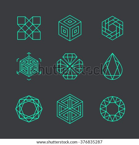 vector abstract modern logo