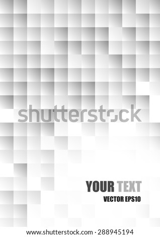 Vector. Abstract modern white and gray square background #288945194