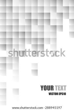 Vector. Abstract modern white and gray square background #288945197