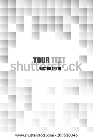 Vector : Abstract modern white and gray square background #289510346