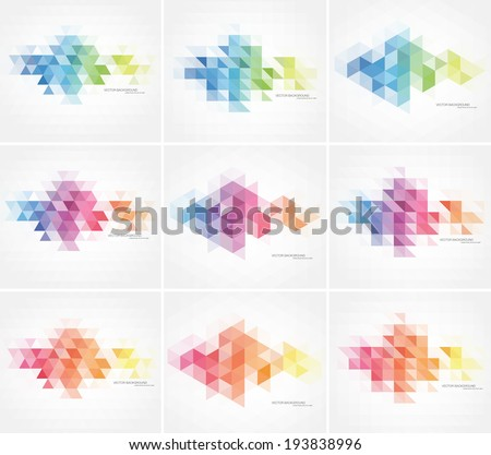 vector abstract multicolored