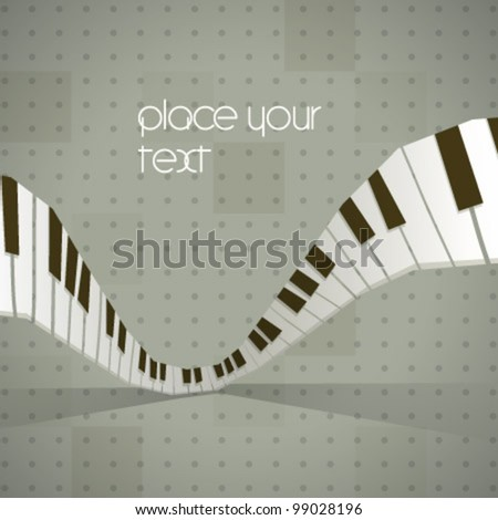 Vector abstract music piano background