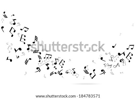 vector abstract musical notes