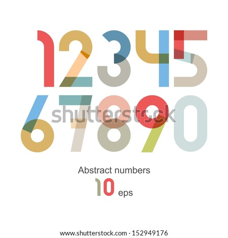 Vector abstract number set ( 10eps )