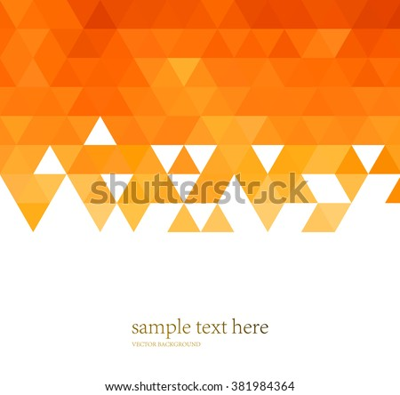 vector abstract orange color