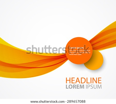 Vector abstract orange wave background for brochure design