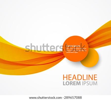 Vector abstract orange wave background for brochure design